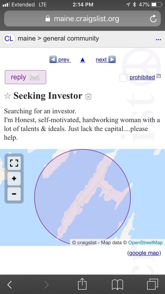 Seeking Investor